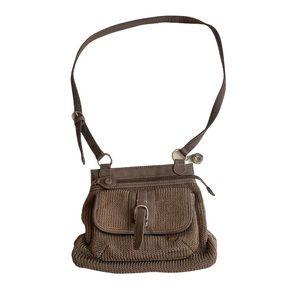 The Sak tan crochet shoulder bag